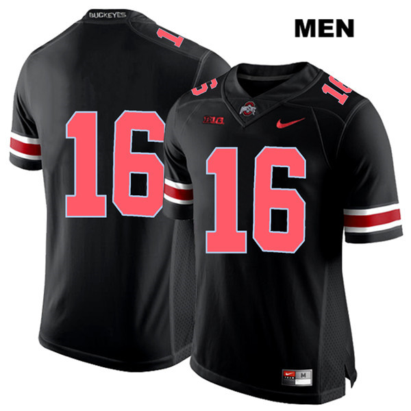 Nike Keandre Jones Mens Stitched Black Red Font Ohio State Buckeyes Authentic no. 16 College Football Jersey - Without Name - Keandre Jones Jersey