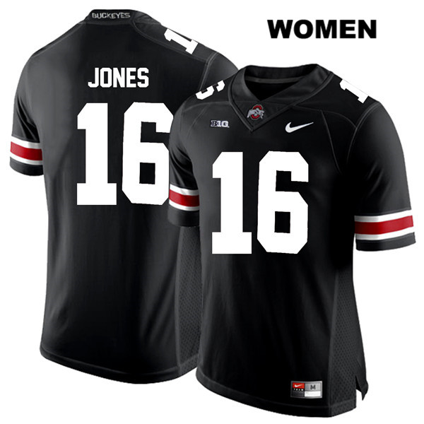 Keandre Jones Stitched Womens Nike Black Ohio State Buckeyes White Font Authentic no. 16 College Football Jersey - Keandre Jones Jersey