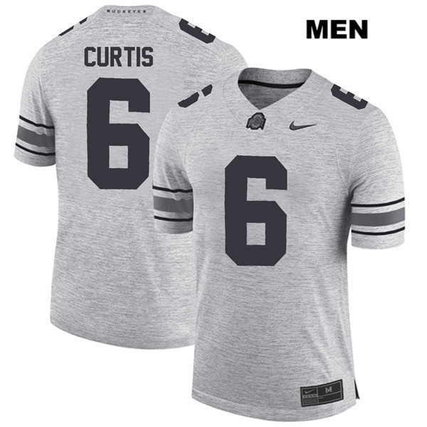 Kory Curtis Mens Gray Ohio State Buckeyes Nike Authentic Stitched no. 6 College Football Jersey - Kory Curtis Jersey