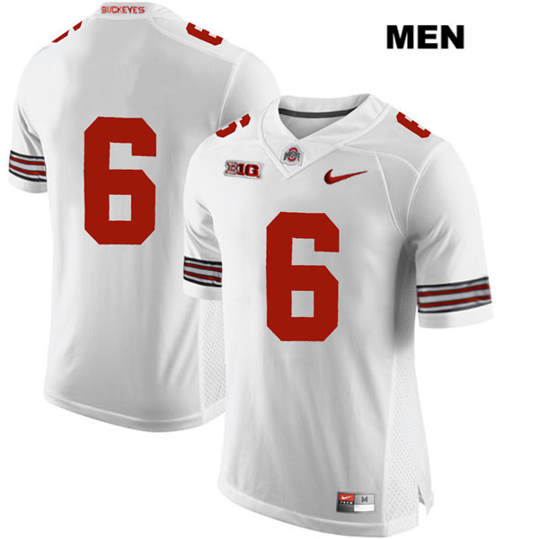 Kory Curtis Stitched Mens White Nike Ohio State Buckeyes Authentic no. 6 College Football Jersey - Without Name - Kory Curtis Jersey