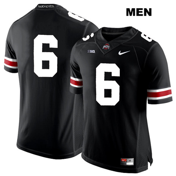 Kory Curtis Mens Stitched Black Nike Ohio State Buckeyes Authentic White Font no. 6 College Football Jersey - Without Name - Kory Curtis Jersey