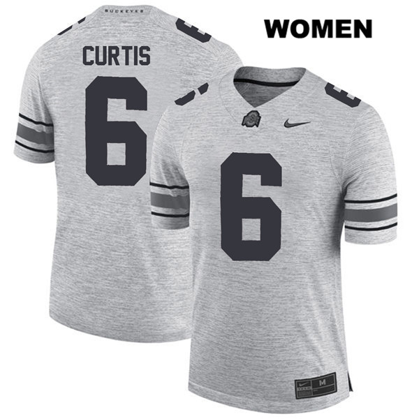 Kory Curtis Womens Nike Gray Ohio State Buckeyes Stitched Authentic no. 6 College Football Jersey - Kory Curtis Jersey