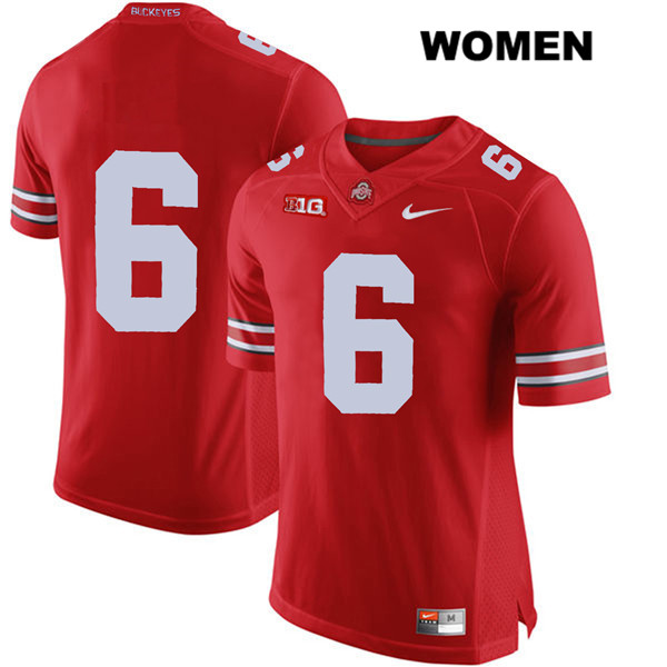 Kory Curtis Womens Stitched Nike Red Ohio State Buckeyes Authentic no. 6 College Football Jersey - Without Name - Kory Curtis Jersey