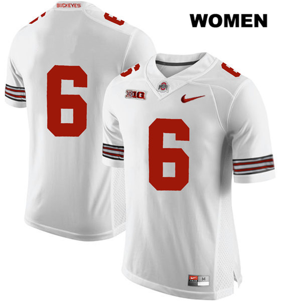 Kory Curtis Womens White Stitched Ohio State Buckeyes Nike Authentic no. 6 College Football Jersey - Without Name - Kory Curtis Jersey