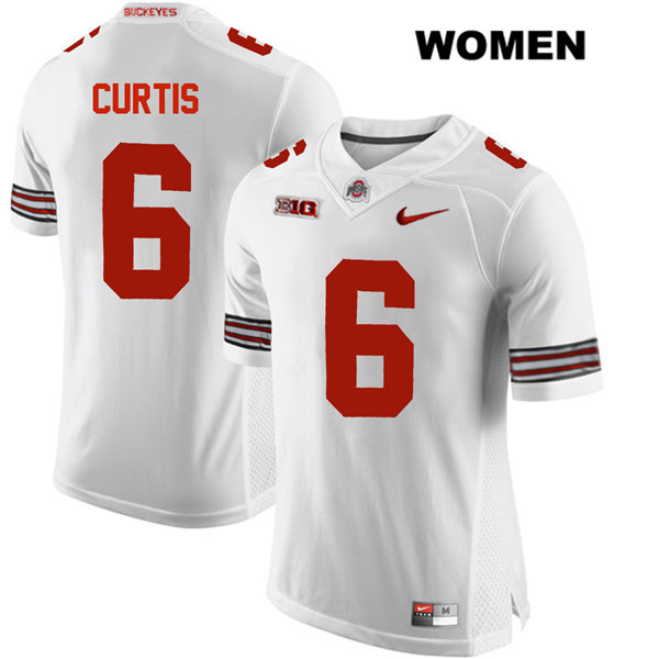 Kory Curtis Womens White Nike Ohio State Buckeyes Stitched Authentic no. 6 College Football Jersey - Kory Curtis Jersey