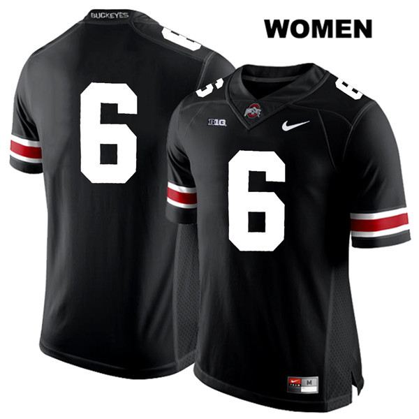 Kory Curtis White Font Womens Nike Black Ohio State Buckeyes Stitched Authentic no. 6 College Football Jersey - Without Name - Kory Curtis Jersey