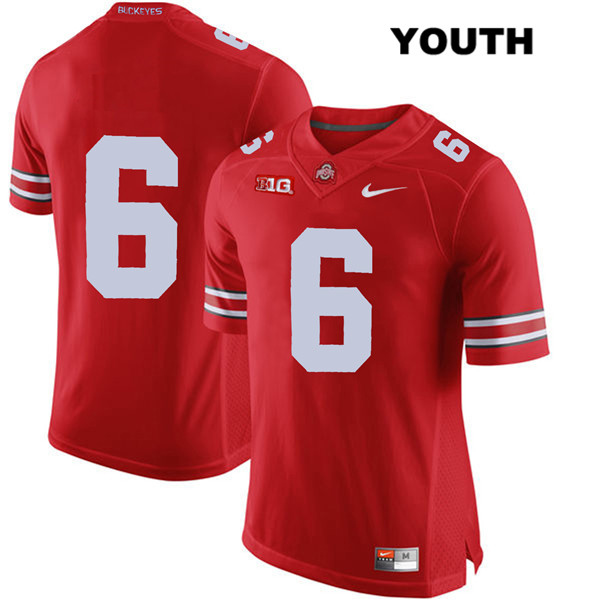 Kory Curtis Stitched Youth Nike Red Ohio State Buckeyes Authentic no. 6 College Football Jersey - Without Name - Kory Curtis Jersey