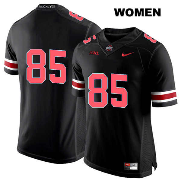 L'Christian Smith Womens Stitched Black Ohio State Buckeyes Authentic Nike Red Font no. 85 College Football Jersey - Without Name - L'Christian Smith Jersey