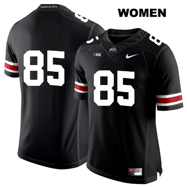 L'Christian Smith Womens Nike Black Ohio State Buckeyes White Font Authentic Stitched no. 85 College Football Jersey - Without Name - L'Christian Smith Jersey