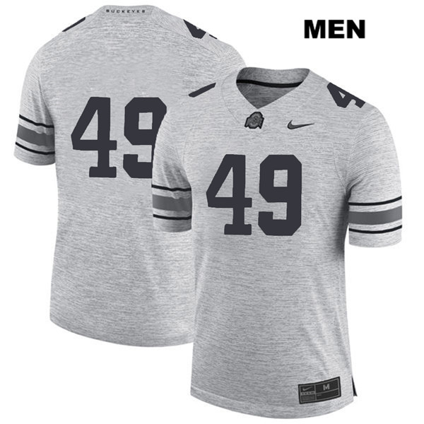Liam McCullough Mens Gray Stitched Nike Ohio State Buckeyes Authentic no. 49 College Football Jersey - Without Name - Liam McCullough Jersey
