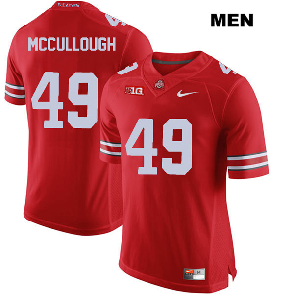Liam McCullough Nike Mens Red Ohio State Buckeyes Authentic Stitched no. 49 College Football Jersey - Liam McCullough Jersey