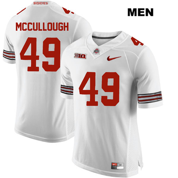Liam McCullough Nike Mens Stitched White Ohio State Buckeyes Authentic no. 49 College Football Jersey - Liam McCullough Jersey