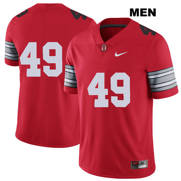 2018 Spring Game Liam McCullough Mens Stitched Red Nike Ohio State Buckeyes Authentic no. 49 College Football Jersey - Without Name - Liam McCullough Jersey