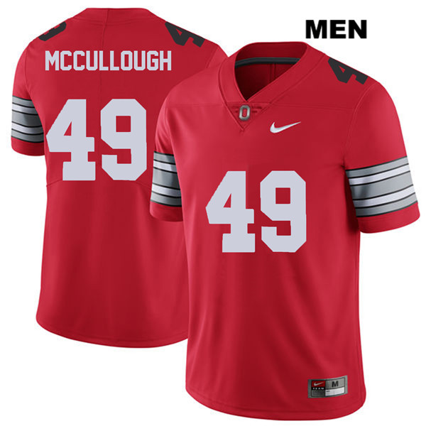 Liam McCullough Mens Red Ohio State Buckeyes 2018 Spring Game Nike Authentic Stitched no. 49 College Football Jersey - Liam McCullough Jersey