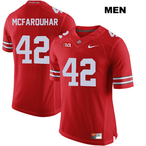 Lloyd McFarquhar Mens Red Ohio State Buckeyes Stitched Authentic Nike no. 42 College Football Jersey - Lloyd McFarquhar Jersey