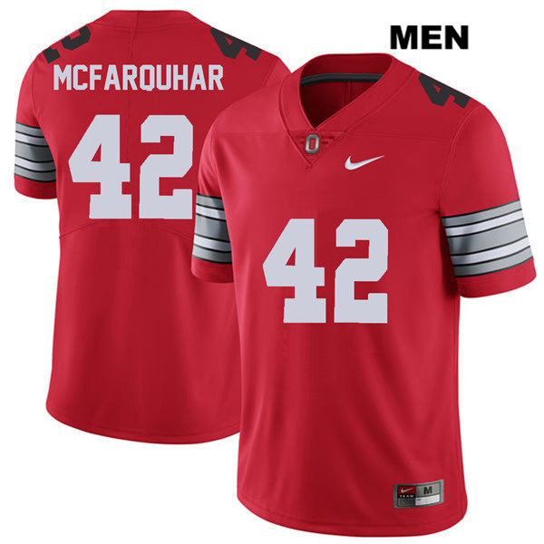 Lloyd McFarquhar Nike Mens Red Ohio State Buckeyes 2018 Spring Game Authentic Stitched no. 42 College Football Jersey - Lloyd McFarquhar Jersey