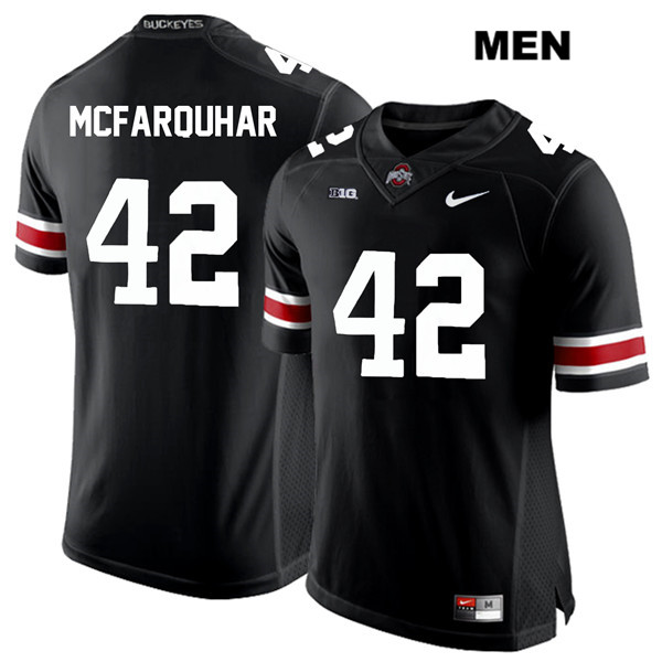 Lloyd McFarquhar Stitched Mens Nike Black Ohio State Buckeyes White Font Authentic no. 42 College Football Jersey - Lloyd McFarquhar Jersey
