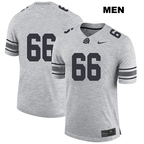 Malcolm Pridgeon Stitched Mens Nike Gray Ohio State Buckeyes Authentic no. 66 College Football Jersey - Without Name - Malcolm Pridgeon Jersey