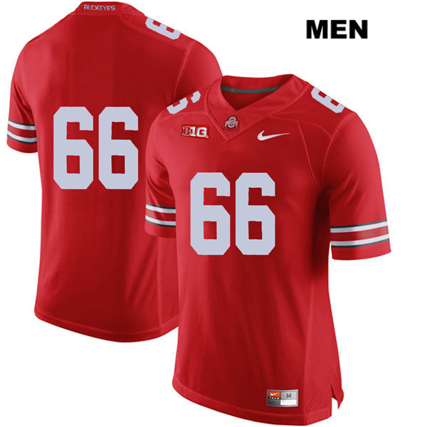 Malcolm Pridgeon Mens Red Nike Stitched Ohio State Buckeyes Authentic no. 66 College Football Jersey - Without Name - Malcolm Pridgeon Jersey