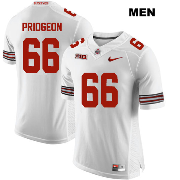 Malcolm Pridgeon Mens White Nike Ohio State Buckeyes Authentic Stitched no. 66 College Football Jersey - Malcolm Pridgeon Jersey