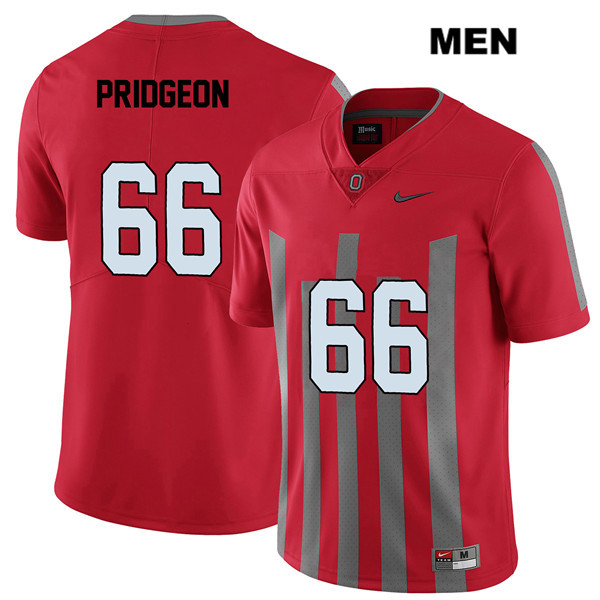 Elite Malcolm Pridgeon Mens Red Stitched Ohio State Buckeyes Authentic Nike no. 66 College Football Jersey - Malcolm Pridgeon Jersey