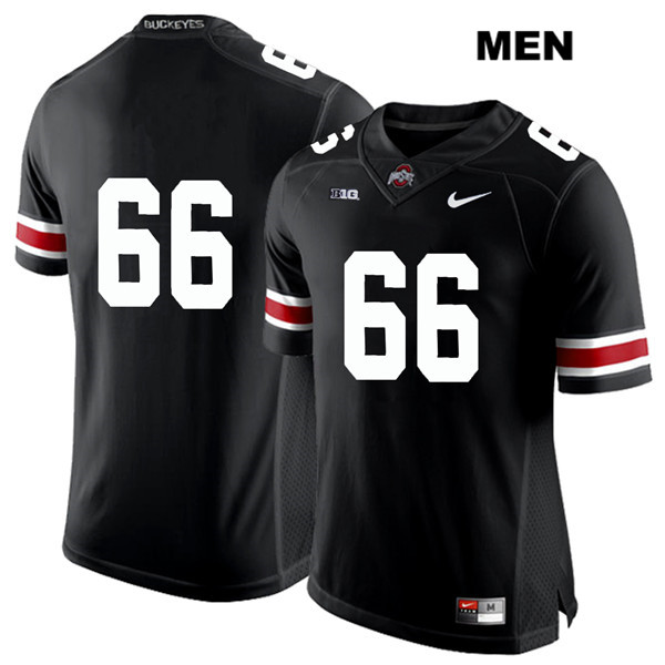Malcolm Pridgeon Mens Stitched Black Ohio State Buckeyes Nike Authentic White Font no. 66 College Football Jersey - Without Name - Malcolm Pridgeon Jersey