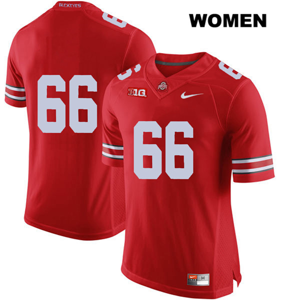 Malcolm Pridgeon Womens Red Ohio State Buckeyes Nike Authentic Stitched no. 66 College Football Jersey - Without Name - Malcolm Pridgeon Jersey