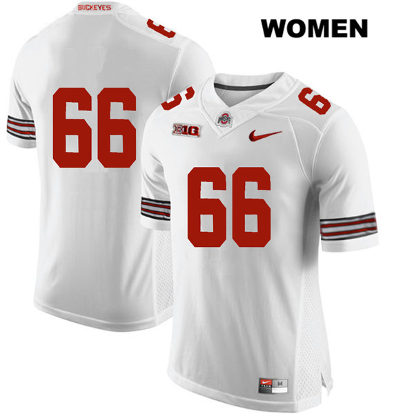 Malcolm Pridgeon Womens Nike White Ohio State Buckeyes Authentic Stitched no. 66 College Football Jersey - Without Name - Malcolm Pridgeon Jersey