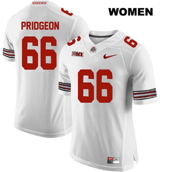 Malcolm Pridgeon Womens White Nike Ohio State Buckeyes Stitched Authentic no. 66 College Football Jersey - Malcolm Pridgeon Jersey
