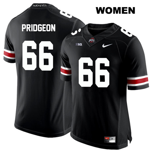 Malcolm Pridgeon White Font Nike Womens Black Ohio State Buckeyes Authentic Stitched no. 66 College Football Jersey - Malcolm Pridgeon Jersey