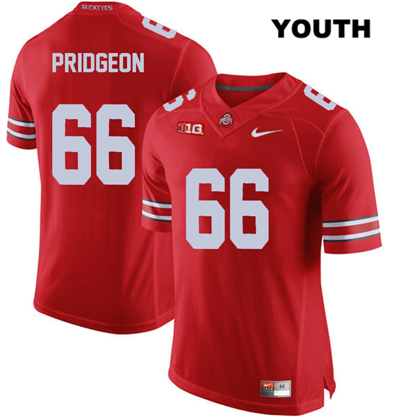 Malcolm Pridgeon Nike Youth Stitched Red Ohio State Buckeyes Authentic no. 66 College Football Jersey - Malcolm Pridgeon Jersey
