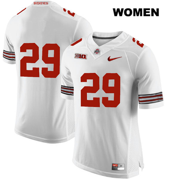 Marcus Hooker Womens White Stitched Ohio State Buckeyes Nike Authentic no. 29 College Football Jersey - Without Name - Marcus Hooker Jersey