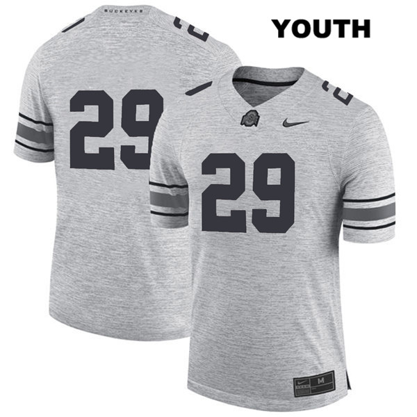 Marcus Hooker Nike Youth Gray Ohio State Buckeyes Authentic Stitched no. 29 College Football Jersey - Without Name - Marcus Hooker Jersey