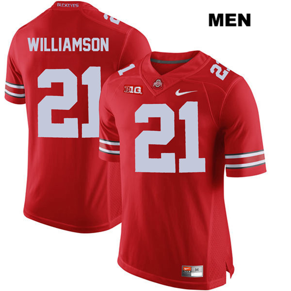 Marcus Williamson Nike Stitched Mens Red Ohio State Buckeyes Authentic no. 21 College Football Jersey - Marcus Williamson Jersey
