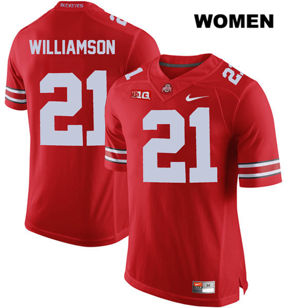 Nike Marcus Williamson Womens Stitched Red Ohio State Buckeyes Authentic no. 21 College Football Jersey - Marcus Williamson Jersey