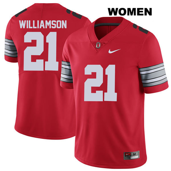 Marcus Williamson Nike Womens Stitched Red 2018 Spring Game Ohio State Buckeyes Authentic no. 21 College Football Jersey - Marcus Williamson Jersey