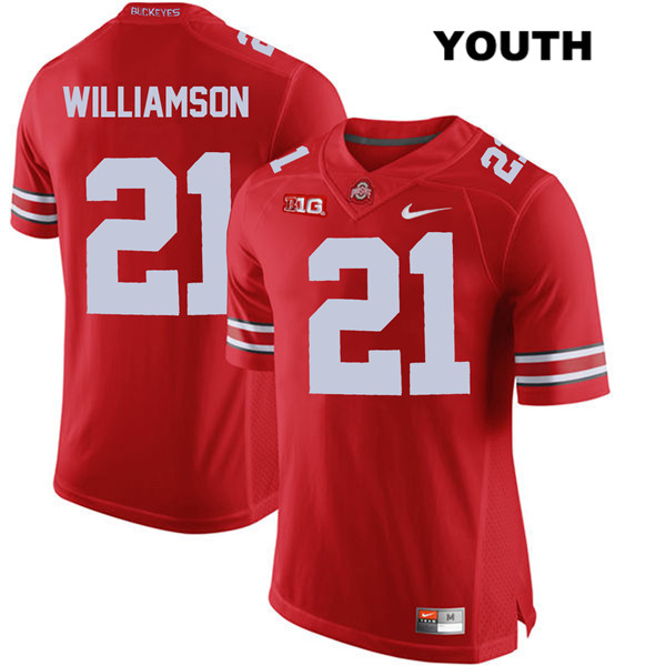 Marcus Williamson Youth Nike Red Stitched Ohio State Buckeyes Authentic no. 21 College Football Jersey - Marcus Williamson Jersey