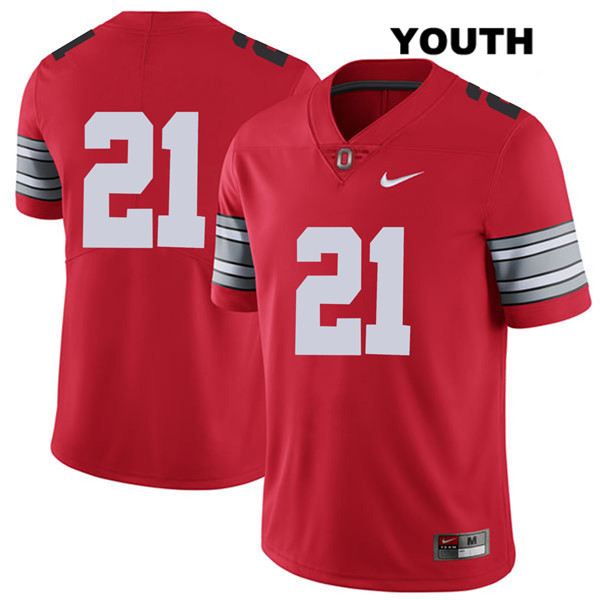 Marcus Williamson Youth 2018 Spring Game Red Stitched Ohio State Buckeyes Authentic Nike no. 21 College Football Jersey - Without Name - Marcus Williamson Jersey
