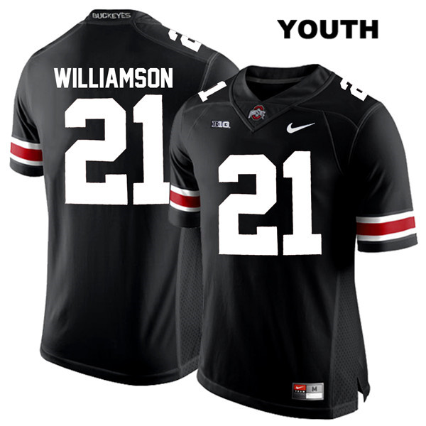 Marcus Williamson White Font Youth Nike Black Stitched Ohio State Buckeyes Authentic no. 21 College Football Jersey - Marcus Williamson Jersey