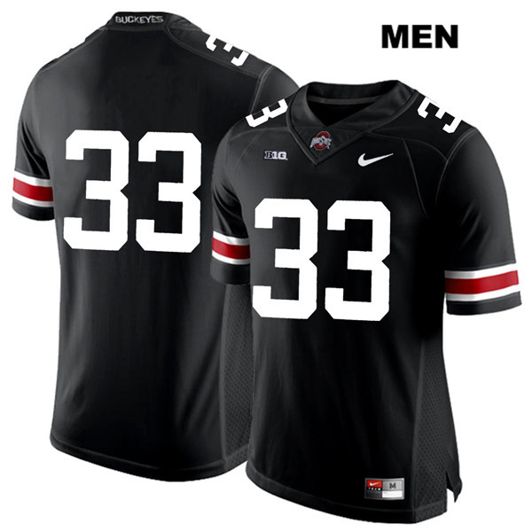 Master Teague Nike White Font Mens Black Stitched Ohio State Buckeyes Authentic no. 33 College Football Jersey - Without Name - Master Teague Jersey