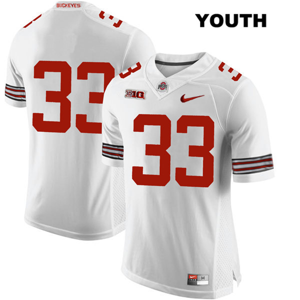 Master Teague Stitched Youth White Nike Ohio State Buckeyes Authentic no. 33 College Football Jersey - Without Name - Master Teague Jersey