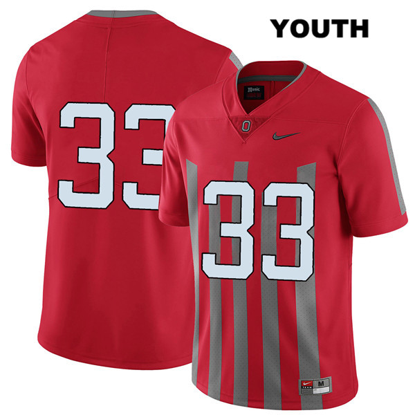 Master Teague Elite Youth Red Stitched Ohio State Buckeyes Authentic Nike no. 33 College Football Jersey - Without Name - Master Teague Jersey