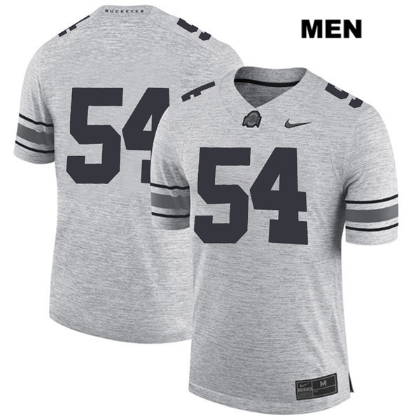Matthew Jones Nike Mens Gray Ohio State Buckeyes Stitched Authentic no. 54 College Football Jersey - Without Name - Matthew Jones Jersey