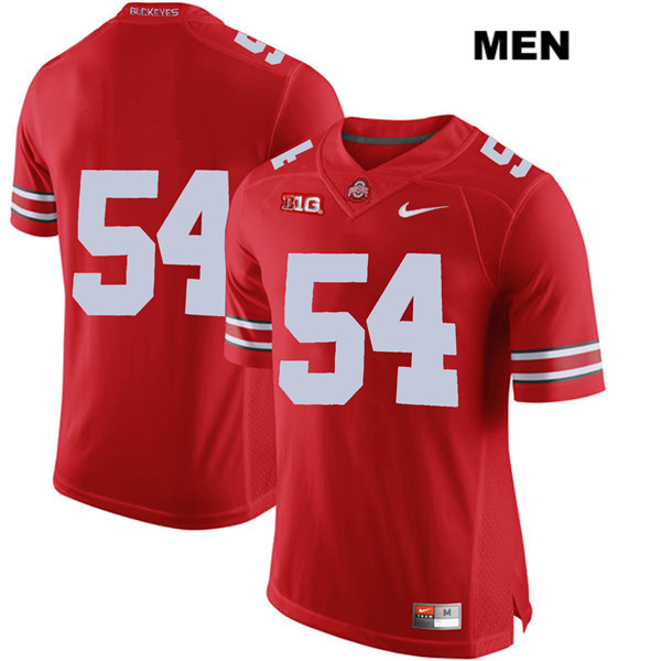 Matthew Jones Stitched Mens Red Ohio State Buckeyes Authentic Nike no. 54 College Football Jersey - Without Name - Matthew Jones Jersey
