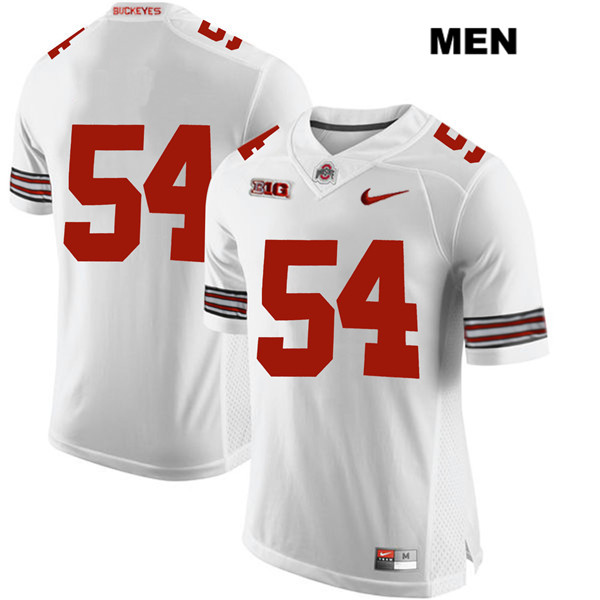 Matthew Jones Nike Mens White Ohio State Buckeyes Stitched Authentic no. 54 College Football Jersey - Without Name - Matthew Jones Jersey