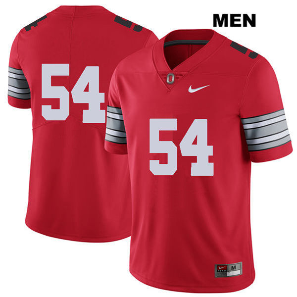 Matthew Jones Nike Stitched Mens Red Ohio State Buckeyes 2018 Spring Game Authentic no. 54 College Football Jersey - Without Name - Matthew Jones Jersey