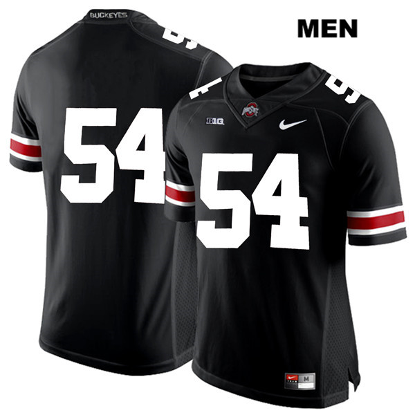Matthew Jones Stitched Nike Mens Black Ohio State Buckeyes White Font Authentic no. 54 College Football Jersey - Without Name - Matthew Jones Jersey