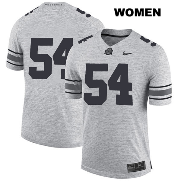 Matthew Jones Womens Gray Stitched Ohio State Buckeyes Nike Authentic no. 54 College Football Jersey - Without Name - Matthew Jones Jersey