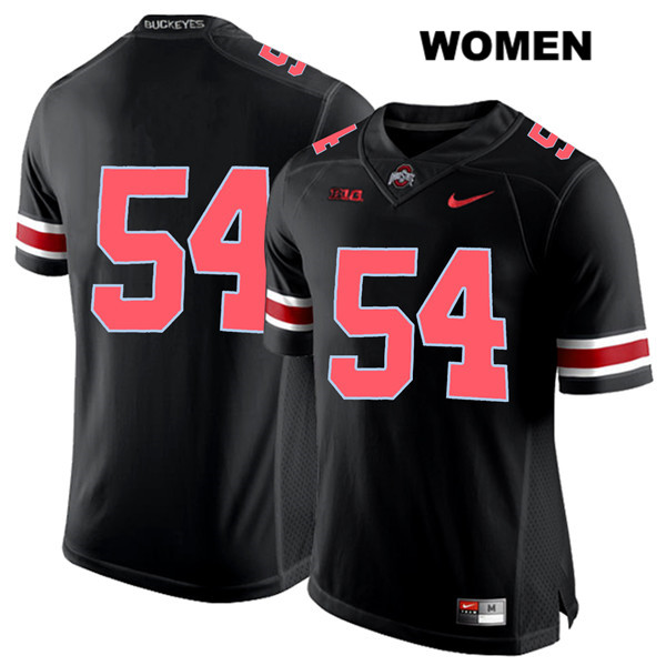 Matthew Jones Womens Black Stitched Ohio State Buckeyes Red Font Authentic Nike no. 54 College Football Jersey - Without Name - Matthew Jones Jersey