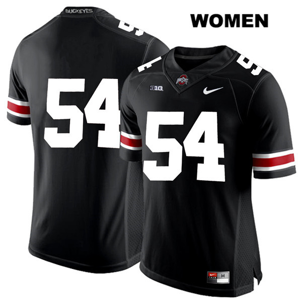 Matthew Jones Womens Nike Black White Font Ohio State Buckeyes Authentic Stitched no. 54 College Football Jersey - Without Name - Matthew Jones Jersey